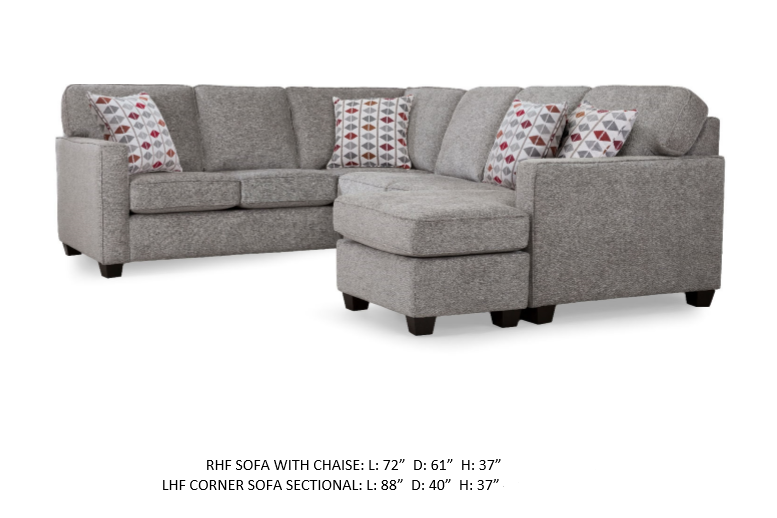 2541 fabric sectional stock decorrest
