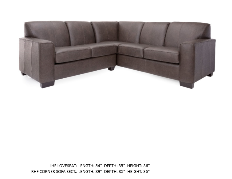 3705 leather sectional decorrest